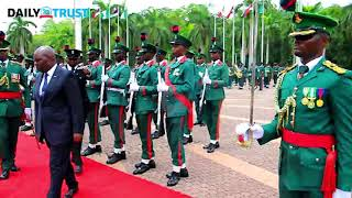 New Congo Ambassador inspects guards at Aso villa