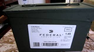 Ammo Score:Federal 420 Rounds of 5.56 (XM193)