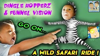OUTDOOR ADVENTURE W/ FUNNEL VISION! EMU DOES  MAGIC ON UNCLE CRUSHER?! |DINGLE HOPPERZ VLOG