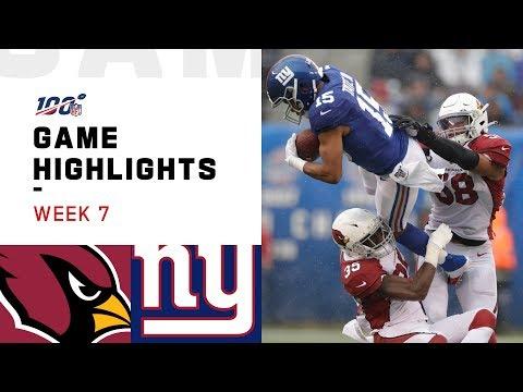 Cardinals vs. Giants Week 7 Highlights | NFL 2019