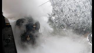 Parallelfahrt 01 202 & C5/6 2969 auf der Gotthard-Nordrampe, Führerstandsmitfahrt, 20. März 2018