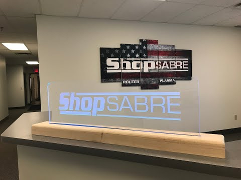 ShopSabre CNC PRO Series Acrylic LED Sign Projectvideo thumb