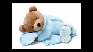Prince Lionheart Original Slumber Bear with Silkie Blanket, audio pacifier; baby bear blanket