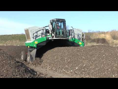 Komptech Topturn X55 Compost Windrow Turner - MSW Fines Processing