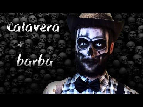 Maquillaje chico CALAVERA con BARBA (low cost)