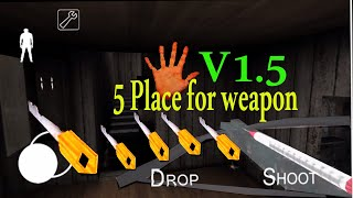 5 easy Way to find Weapon Key in granny ( update version 1.5) Granny Horror Game