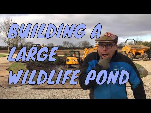 Building a Wildlife Pond | Garden Pond Building Northamptonshire