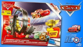 Jouet Disney Cars Looping Launcher Piste Lanceur Flash McQueen Lightspeed loopin' Review for Kids