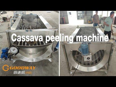 cassava cleaning and peeling machine|removal cassava skin