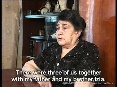 Holocaust Survivor Testimony: Ekaterina Khazran, part 1/3