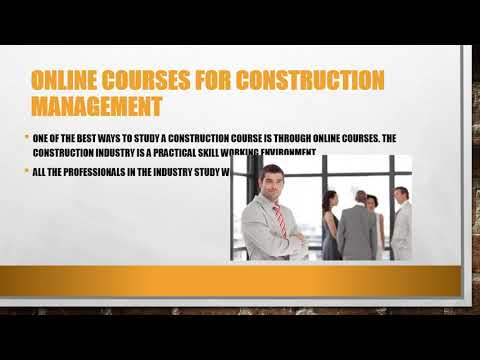Construction Management Distance Learning