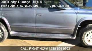 2003 Dodge Durango SLT 4WD - for sale in Proctor, MN 55810