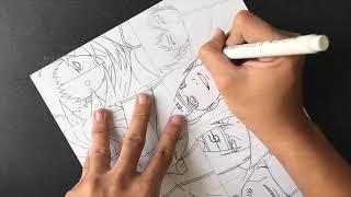 Speed Drawing Fanart Akatsuki (Naruto) By Kishi Dat Nguyen