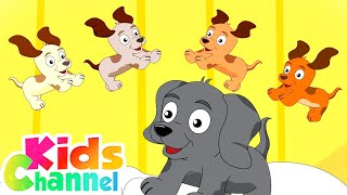 Five Little Puppies Nursery Rhymes And Kids Songs | Cartoon Videos for Children - Kids Channel