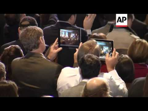 Reactions from Democrat and Republican HQs after Obama win