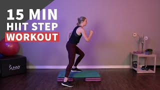 15 Min HIIT Step Workout for Beginners