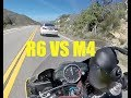 BMW M4 Vs. Yamaha R6 140MPH+ Chase