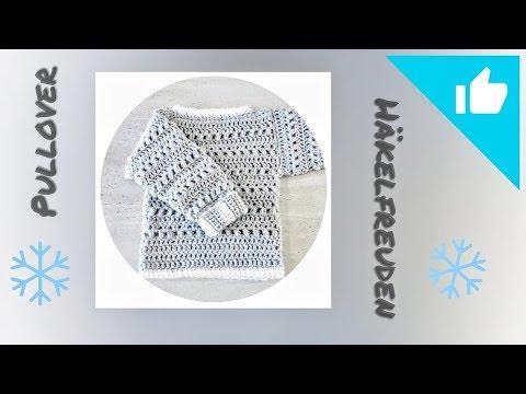 Pullover häkeln ✿⊰ einfaches, aber schönes Muster ⊱✿