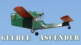 Geebee Model Q Ascender Flight At Wenatchee Scale Event Red Apple Flyers
