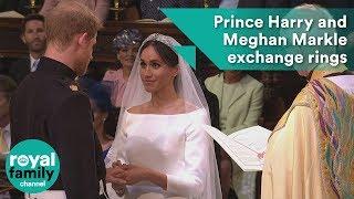 Prince Harry and Meghan Markle exchange wedding rings