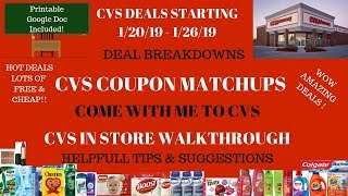 Lots of Deals & FREE~CVS Deals Starting 1/20/19~CVS Walkthrough Coupon Matchups~Come with me to CVS!