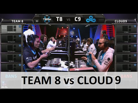 Team 8 vs Cloud 9 | S5 NA LCS Summer 2015 Week 6 Day 2 | T8 vs C9 W6D2 G5 Round 2