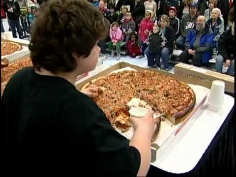 13 Year Old Wins Pizza Eating Contest
