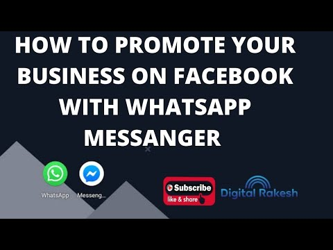 How to promote your business on Facebook with whatsapp messenger
