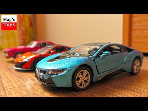 Driving and Parking TOY CARS Video for Kids