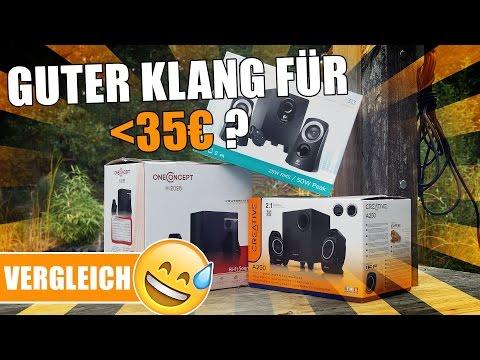 2.1 PC-LAUTSPRECHER VERGLEICH - Creative A250, Logitech Z313, oneConcept