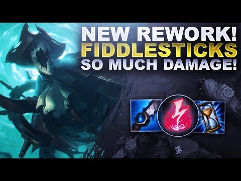 *NEW* FIDDLESTICKS REWORK IS HERE! SO MUCH DAMAGE! | League of Legends