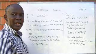 Chemical kinetics lesson 1 of 2 by Dr Bbosa Science