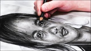 How To Draw A Portrait With Charcoal | REALISTIC DRAWING TUTORIAL