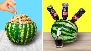 10 Erstaunliche Wassermelonen-Ideen und Streiche / Wassermelonen-Herausforderung