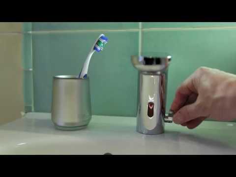 Сенсорный бесконтактный смеситель для раковины с регулировкой температуры воды