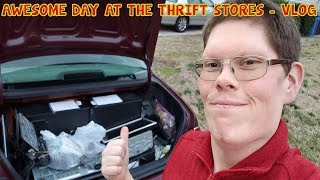 AWESOME DAY AT THE THRIFT STORES -  VLOG