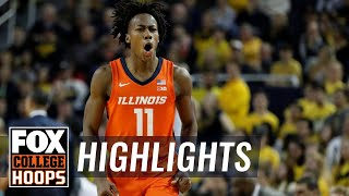 Dosunmu's career day lifts Illinois past Michigan in final seconds | FOX COLLEGE HOOPS HIGHLIGHTS