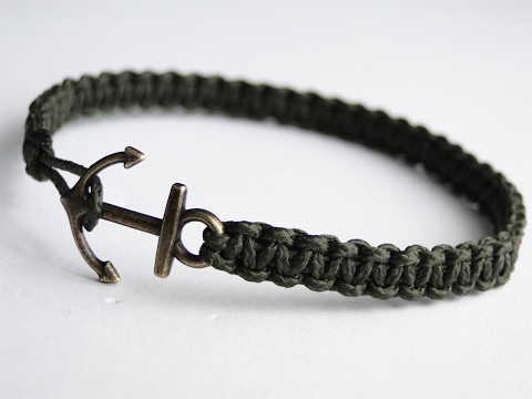 How to Make a Simple Micro Cord Anchor Charm Bracelet- Paracord/Macrame/Friendship