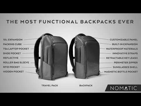 The NOMATIC Backpack and Travel Pack (Kickstarter)