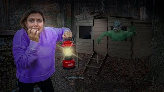 3AM Challenge - Exploring Tiny Bunker in Woods (Pond Monster Caught Me)