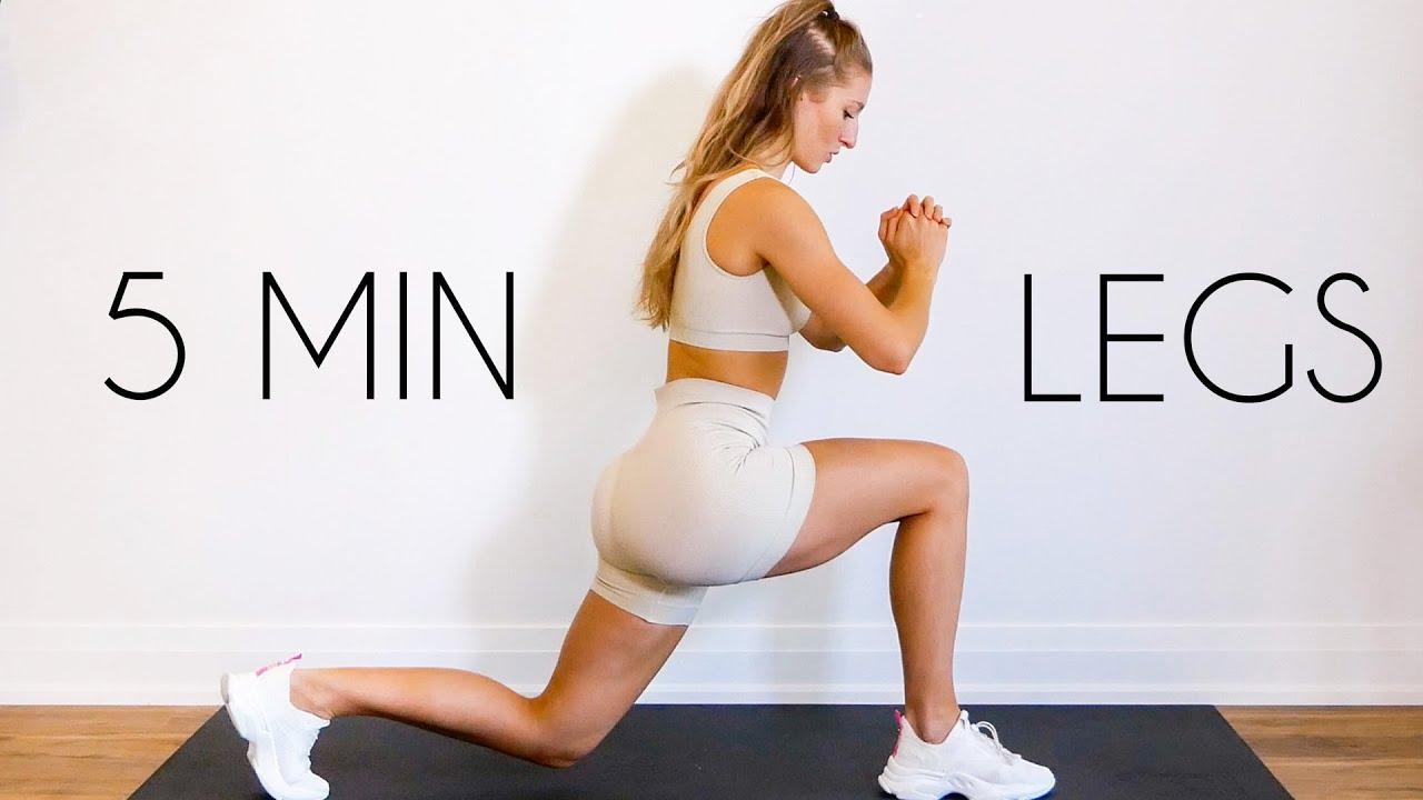5 MIN LEAN LEGS WORKOUT (Intense & No Equipment)