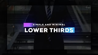 Clean Lower Thirds in After Effects - Complete After Effects Tutorial