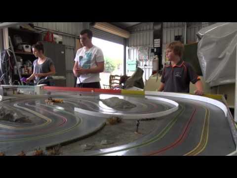 Mobile slot car track