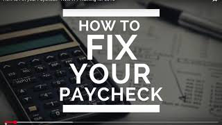 How To Adjust Your Paycheck Tax Withholding | MyEcon Business Tutorial