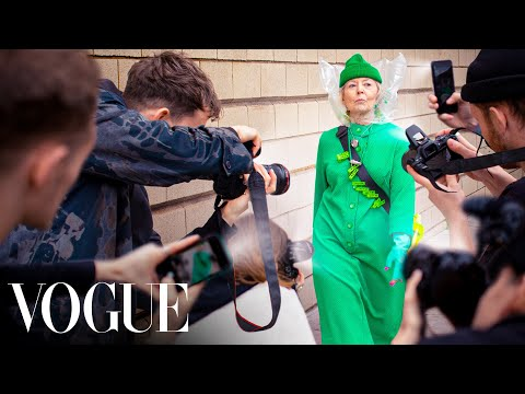These guys made a ridiculous outfit and got a grandma featured in Vogue at fashion week