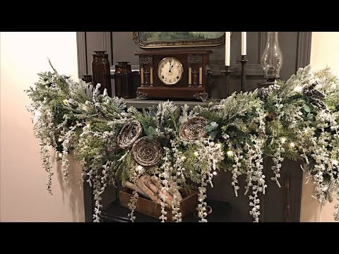 Winter Mantel Garland - Decorating Ideas For Winter - How To Decorate After Christmas