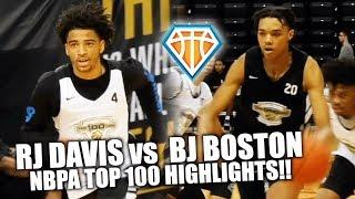 BJ BOSTON vs RJ DAVIS!! | + Kyree Walker vs Daeshin Nix in ELITE Matchup at NBPA Top100 Camp