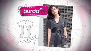 burda na TV 86 – Blusa quimono