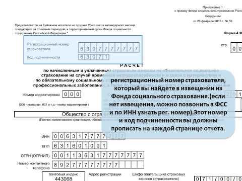 Заполнение нулевой отчетности 4-фсс