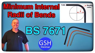 BS 7671 Minimum Internal Radii of Bend in Cable for Fixed Wiring (Includes demonstration)